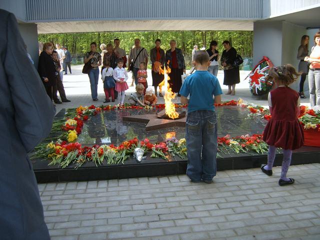 Вечный огонь на Мемориале